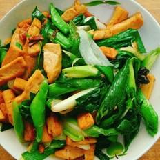 青蒜炒豆腐干