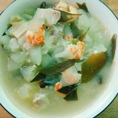 冬瓜虾仁海带汤