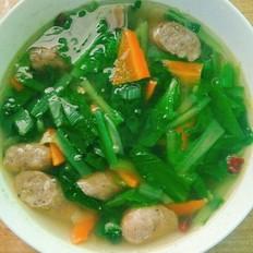 牛肉肠小白菜汤