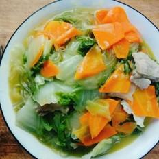胡萝卜白菜炖肉