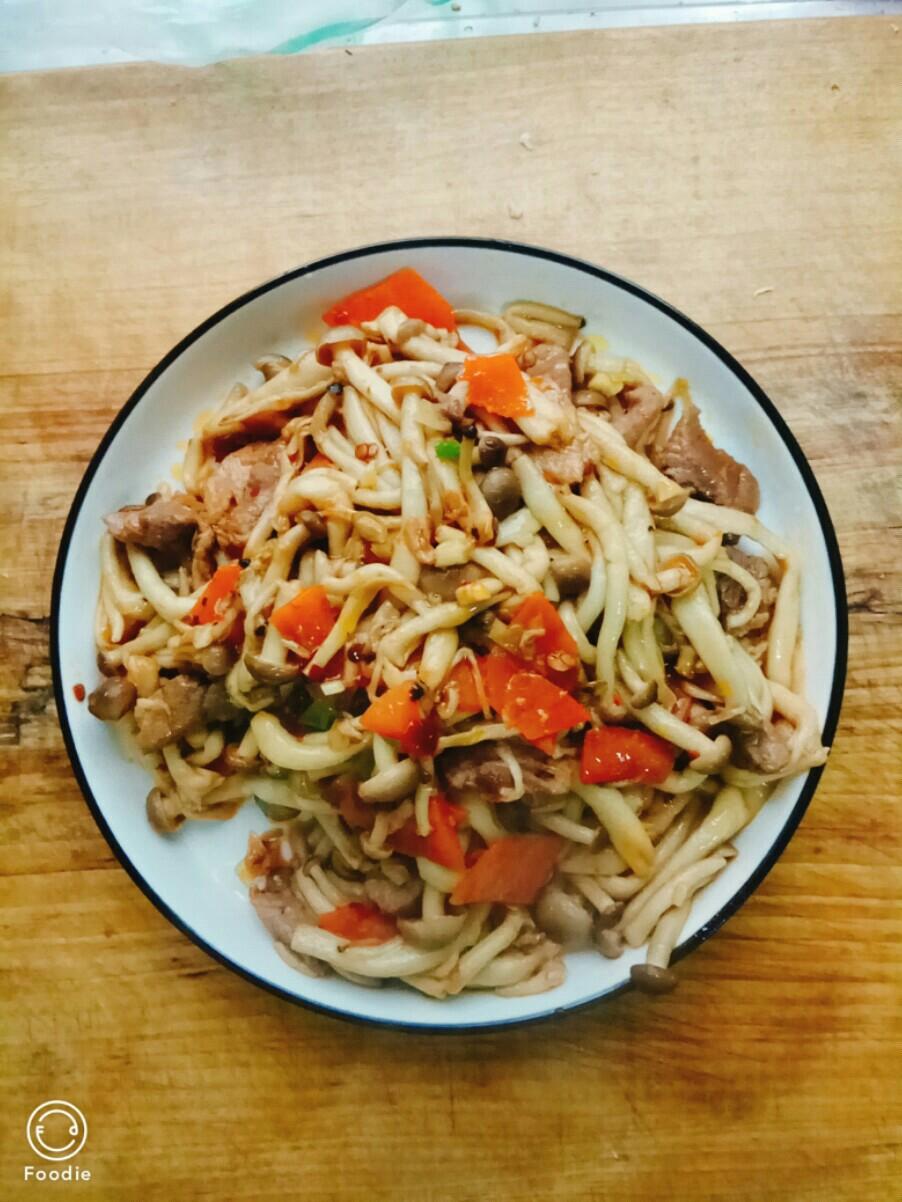 肉炒蟹味菇
