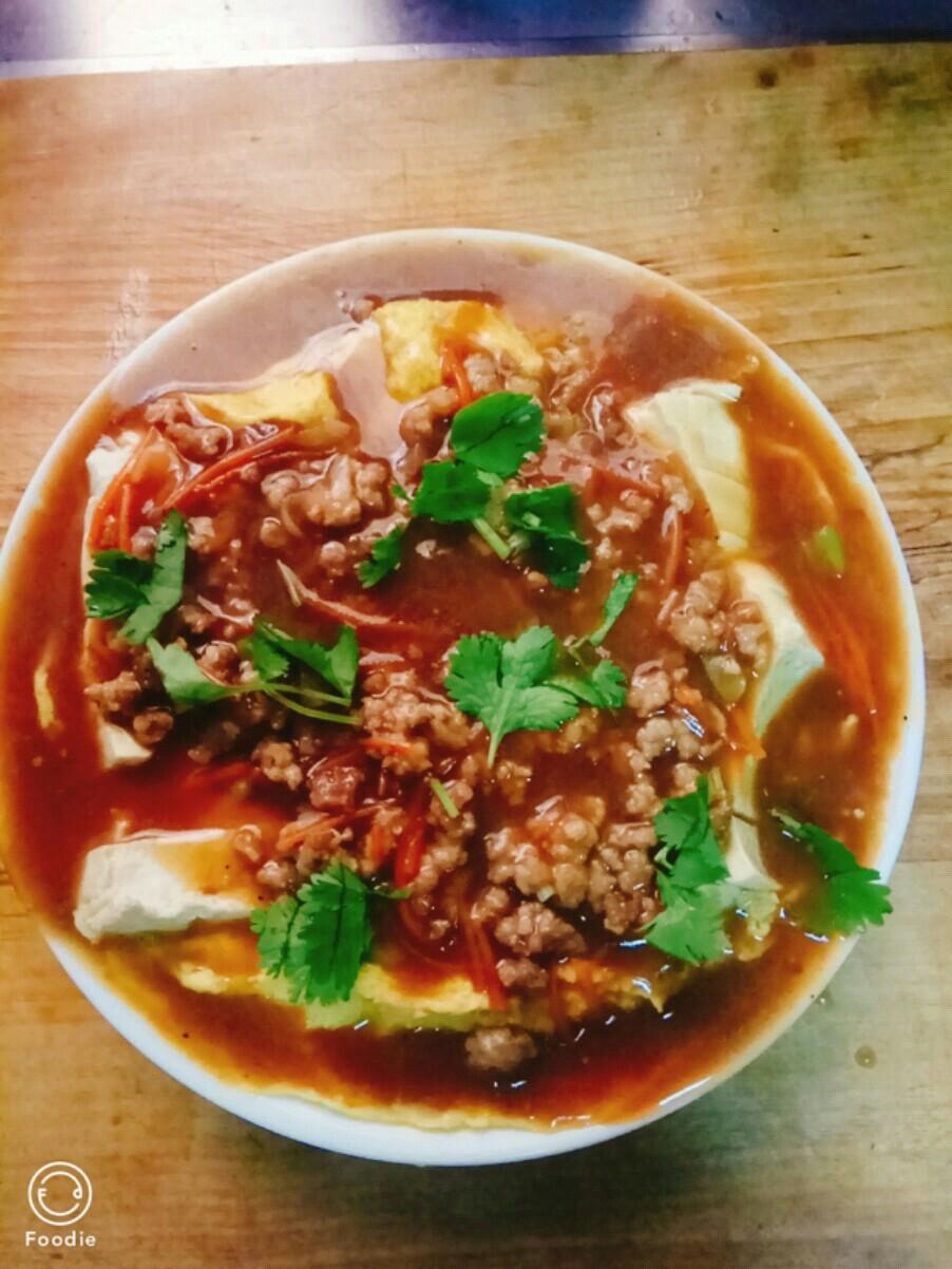 #豆腐的神仙做法#肉末豆腐