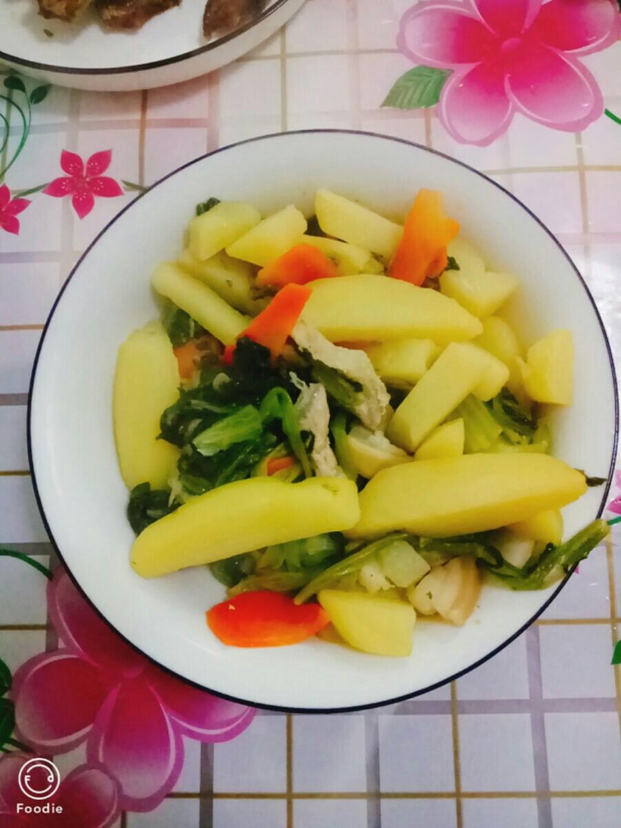 小白菜炖土豆