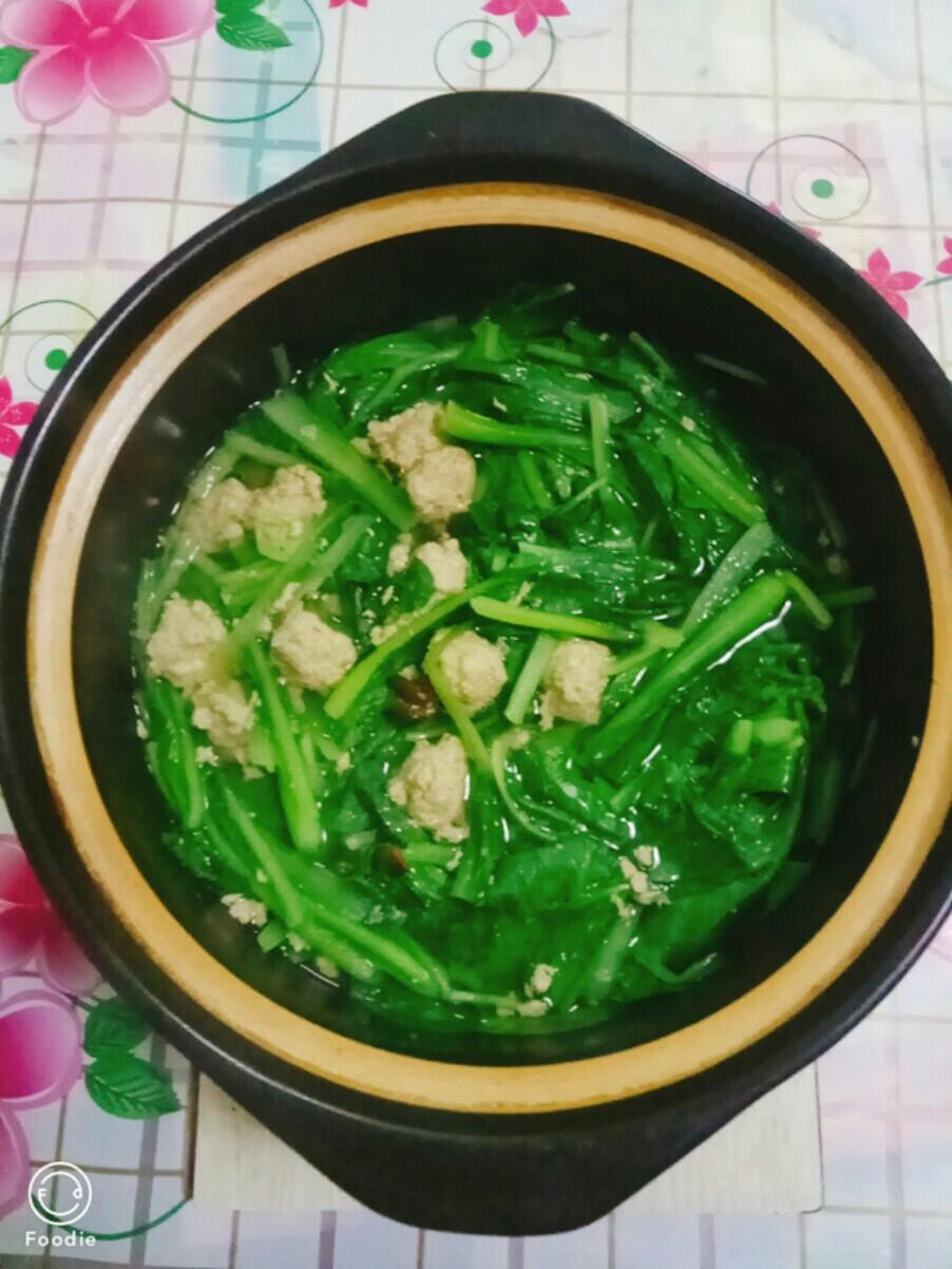 砂锅版小白菜汆丸子