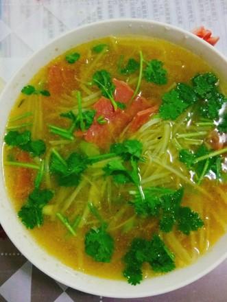 美味土豆丝汤的做法