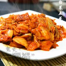 红辣鲜爽的辣白菜炒五花肉
