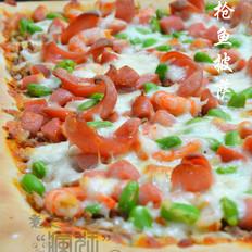 超大号的美味-金枪鱼披萨