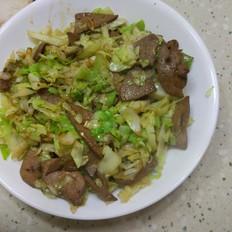 包菜炒猪肝