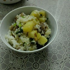 土豆猪肉焗饭