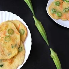 秋葵鸡蛋小煎饼