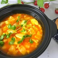 番茄龙利鱼豆腐煲
