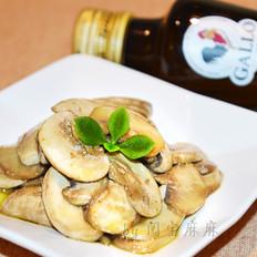 椒盐橄榄油煎白蘑菇