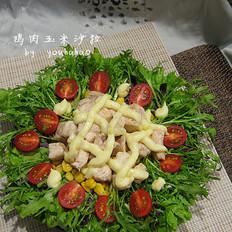 鸡肉玉米沙拉