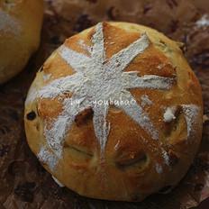 葡萄干软欧面包