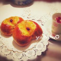 心型果酱面包