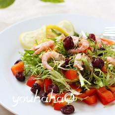 甜虾果蔬沙拉