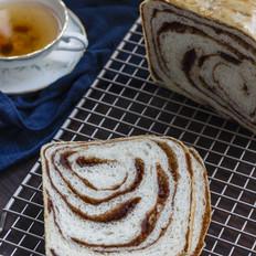 面包机版豆沙土司的做法