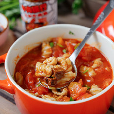 番茄牛肉莜面猫耳朵