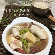 笔管鱼炖白菜豆腐