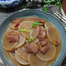 白萝卜烧五花肉