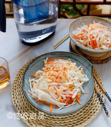 凉拌金钩白菜的做法