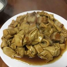 豆腐扣剁五花肉