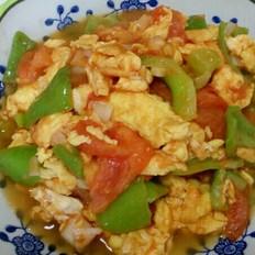 鸡蛋尖椒炒西红柿