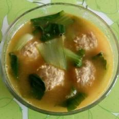 咖喱油菜丸子汤