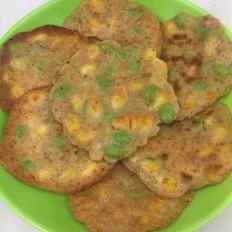 玉米粒毛豆饼