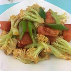 番茄炒白花菜