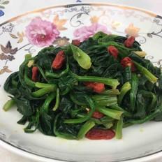 凉拌枸杞子菠菜
