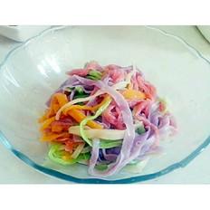 彩色果蔬面
