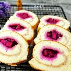 火龙果馅儿蛋糕卷