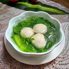肉丸生菜汤