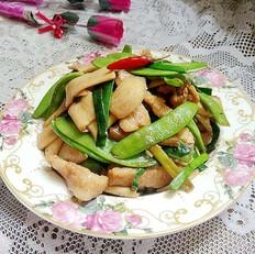 里脊肉杏鲍菇炒荷兰豆