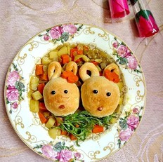 咖喱小兔面包