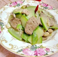 猪肝瘦肉炒浦瓜
