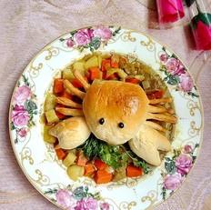 咖喱螃蟹面包