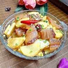腊肉炒土豆