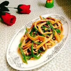 青椒肉丝炒千张