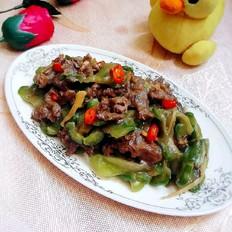 凉瓜炒牛肉