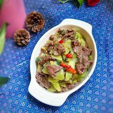 萵筍炒牛肉