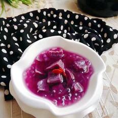 紫薯西米甜汤