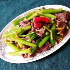 芹菜芯炒牛肉