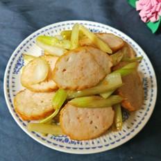 西芹炒肉卷