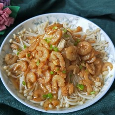 虾仁金针菇