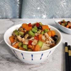 海鲜蔬菜拌面线