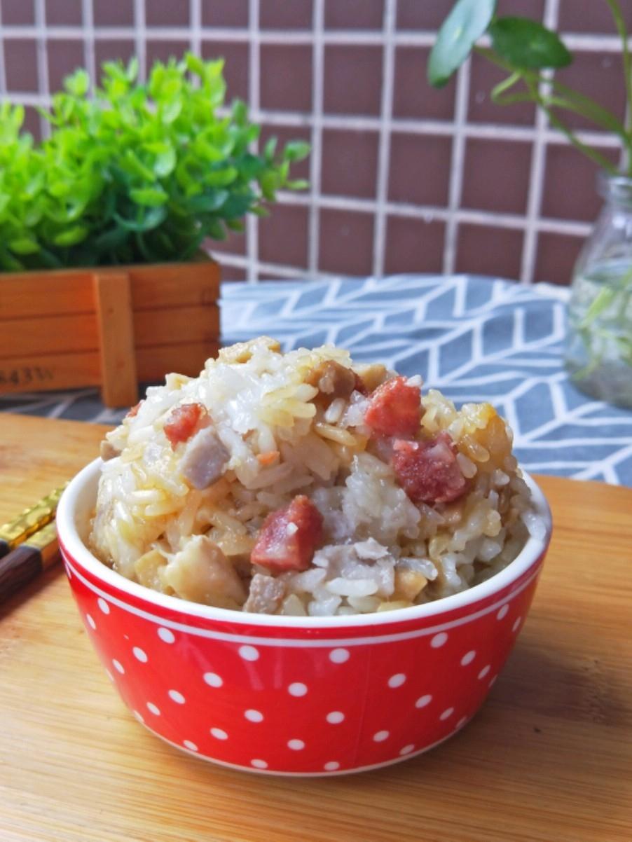 腊肠芋头糯米饭