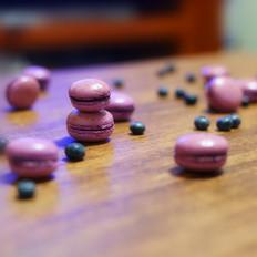蓝莓&白梨马卡龙
