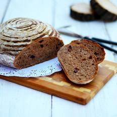 蔓越莓版免揉面包